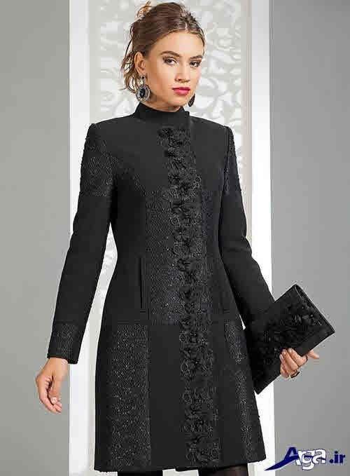 مدل مانتو مجلسی مشکی بلند زنانه کار شده اینستاگرام گیپور کروپ مدل لباس مجلسی مشکی مدل لباس مجلسی مدل لباس سیاه رنگ مجلسی مدل لباس جدیدترین مدل های لباس مجلسی مشکی