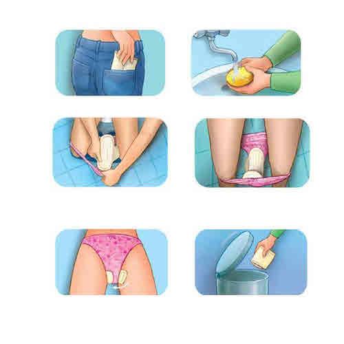 عکس آموزش تصویری و طرز صحیح بستن نوار بهداشتی نحوه صحیح بستن نوار بهداشتی عکس بستن نوار بهداشتی طریقه بستن نوار بهداشتی روش بستن نوار بهداشتی بستن نوار بهداشتی آموزش بستن نوار بهداشتی